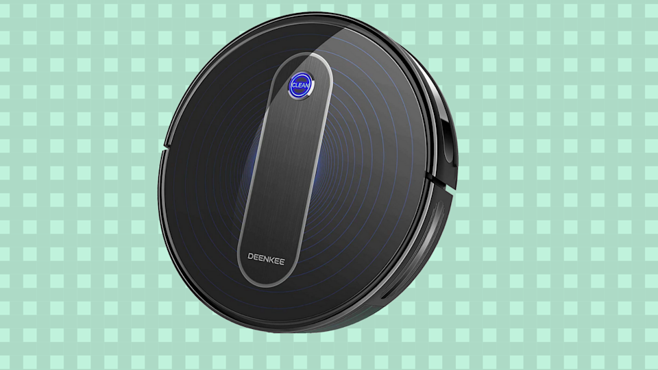 Save nearly 50 percent on the Deenkee Robot Vacuum Cleaner. (Photo: Amazon)