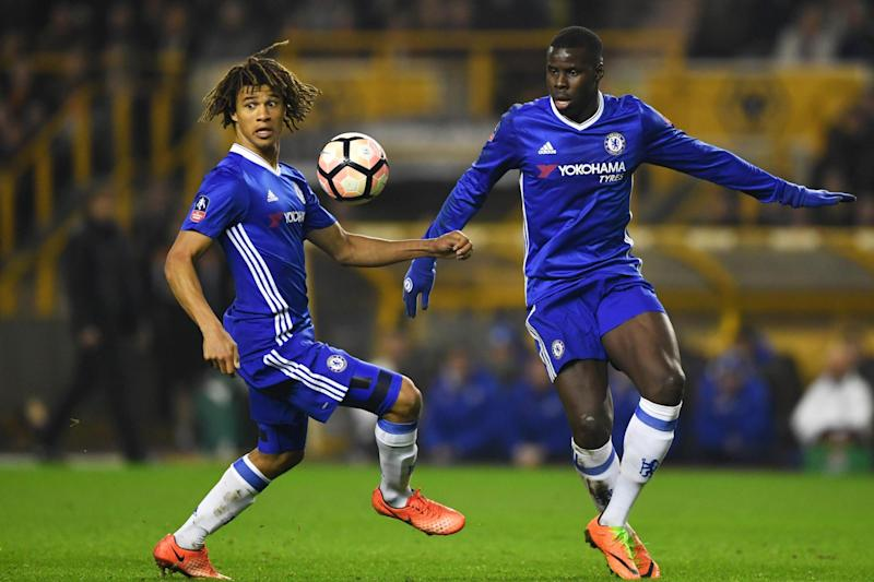 Substitute | Nathan Ake (left) has played just twice since returning to Chelsea in January: Getty Images