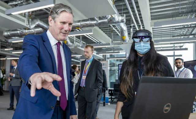 Labour leader Sir Keir Starmer during a visit to AMRC Cymru, Flintshire
