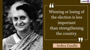 Quotes by Indira Gandhi| (Photo Credits: File Image)