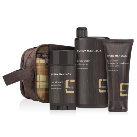 """<h2>Every Man Jack Body Kit</h2><br>This body kit comes with all the essentials: shampoo & conditioner, body wash, and aluminum-free deodorant all wrapped up together in a classy Dopp kit bag. Shop this kit that ships in two to four days or sign dad up for a build-your-own <a href=""""https://www.everymanjack.com/subscribe"""" rel=""""nofollow noopener"""" target=""""_blank"""" data-ylk=""""slk:subscription service"""" class=""""link rapid-noclick-resp"""">subscription service</a>.<br><br><em>Shop</em> <a href=""""https://www.everymanjack.com/"""" rel=""""nofollow noopener"""" target=""""_blank"""" data-ylk=""""slk:Every Man Jack"""" class=""""link rapid-noclick-resp""""><strong><em>Every Man Jack</em></strong></a><br><br><strong>Every Man Jack</strong> Body Kit, $, available at <a href=""""https://go.skimresources.com/?id=30283X879131&url=https%3A%2F%2Fwww.everymanjack.com%2Fbody-kit-sandalwood-2020"""" rel=""""nofollow noopener"""" target=""""_blank"""" data-ylk=""""slk:Every Man Jack"""" class=""""link rapid-noclick-resp"""">Every Man Jack</a>"""