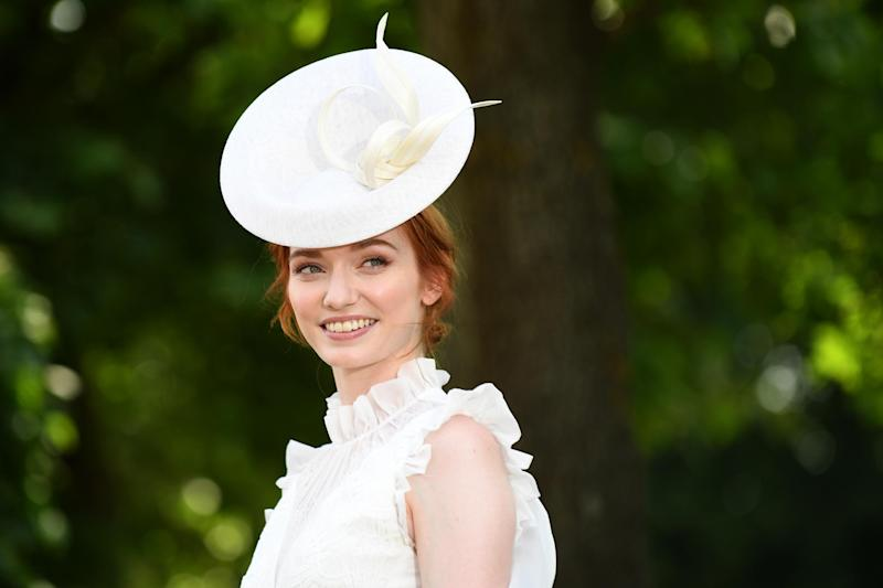 Actress Eleanor Tomlinson attends Royal Ascot 2017: Getty Images