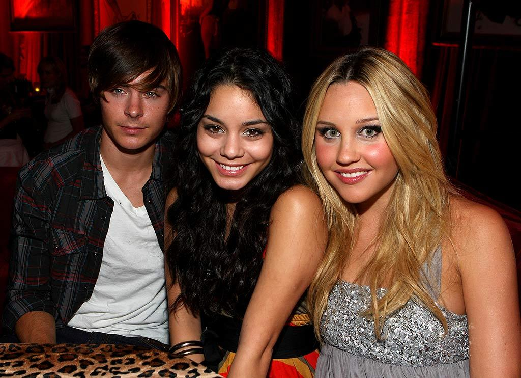 "It looks like Zac Efron (with Vanessa Hudgens and Amanda Bynes) still hasn't recovered from celebrating his 20th birthday. John Shearer/<a href=""http://www.wireimage.com"" target=""new"">WireImage.com</a> - October 24, 2007"
