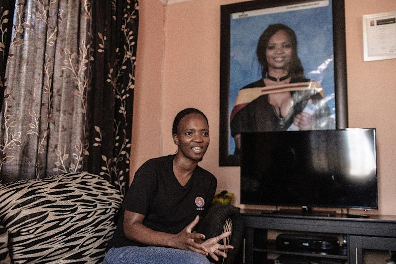 Kgomotso Sebabi is one of millions of unemployed young South Africans (AFP Photo/GIANLUIGI GUERCIA)