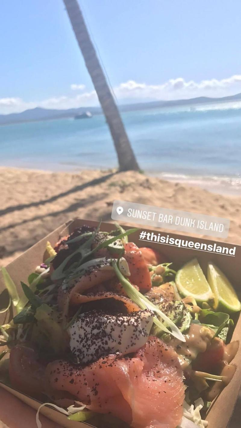 It may feel like a deserted island but the food on Dunk was very good. Photo: Be