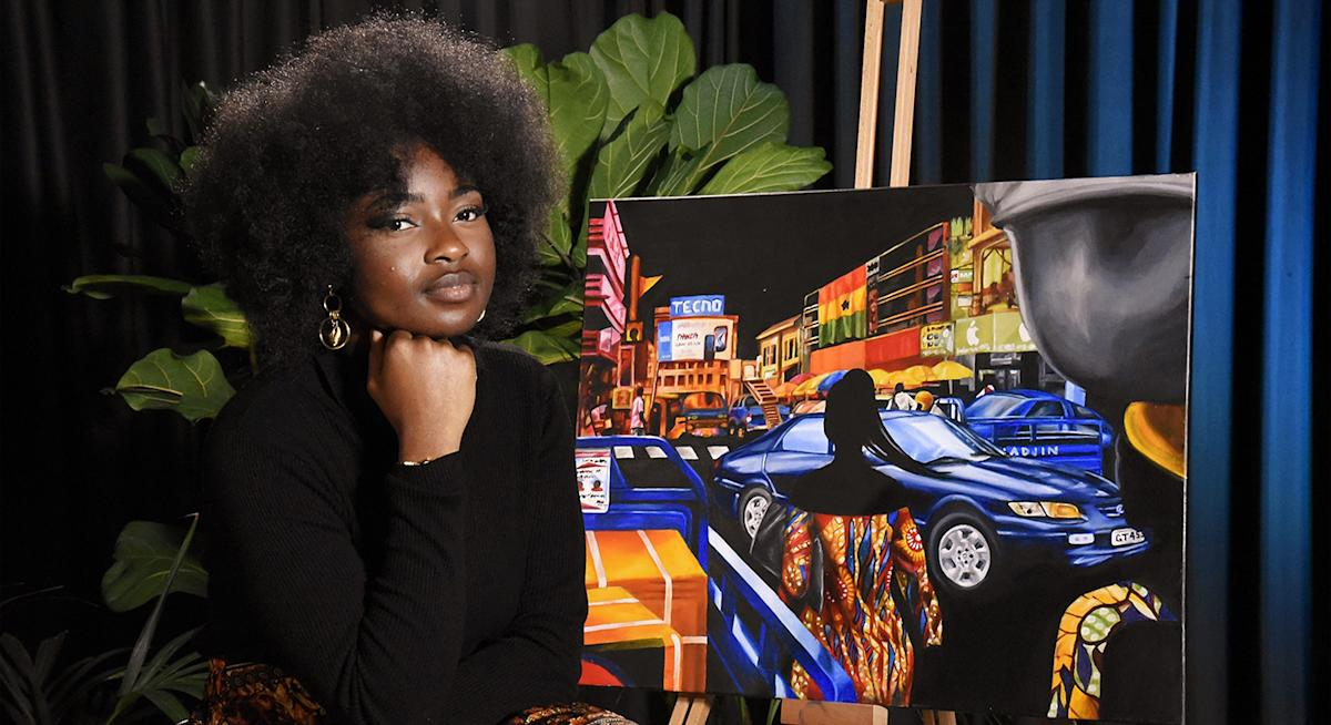 Sharon Adebisi: 'I reflected on the loss of identity in my paintings by not painting any faces'