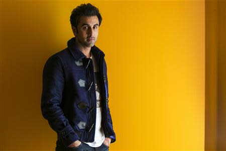 Bollywood actor Ranbir Kapoor poses for a portrait while doing interviews regarding his new film Besharam in New York, in this September 23, 2013 file photo. REUTERS/Lucas Jackson/Files