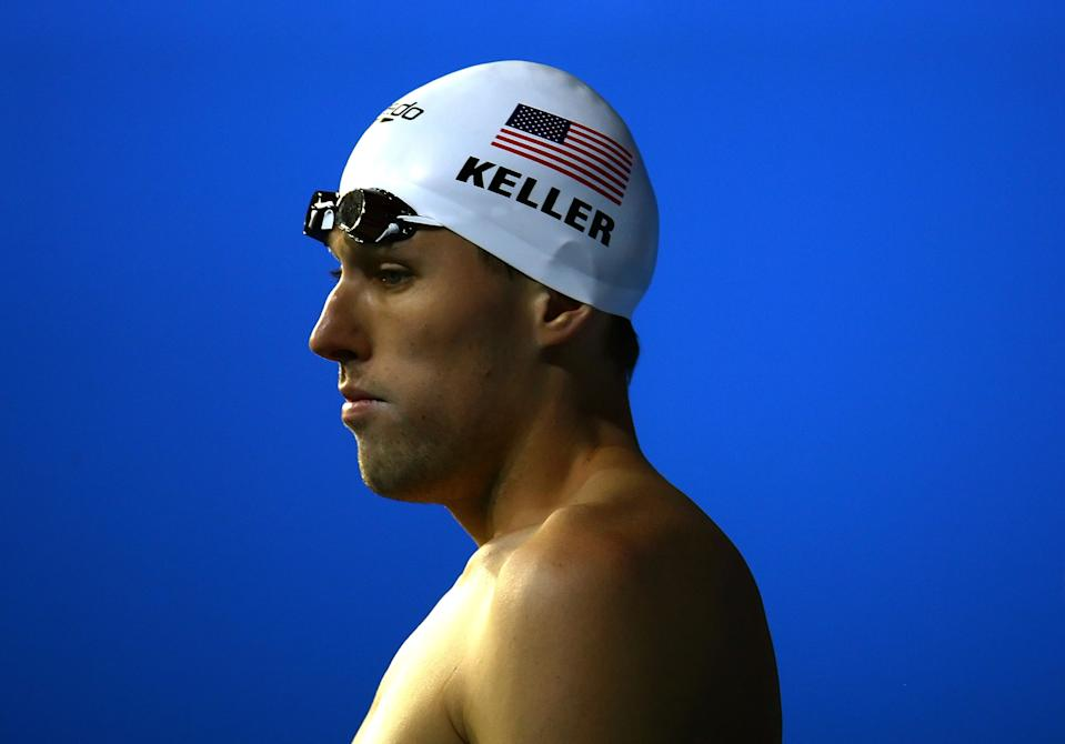 MELBOURNE, AUSTRALIA - MARCH 26:  Klete Keller of the United States of America after finishing second in the Men's 200m Freestyle heats during the XII FINA World Championships at the Rod Laver Arena on March 26, 2007 in Melbourne, Australia.  (Photo by Vladimir Rys/Bongarts/Getty Images)