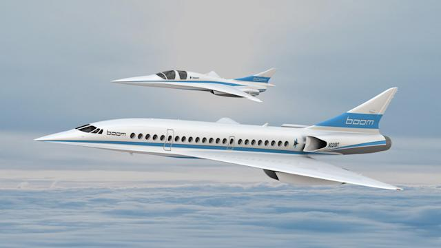 Boom technology supersonic plane render