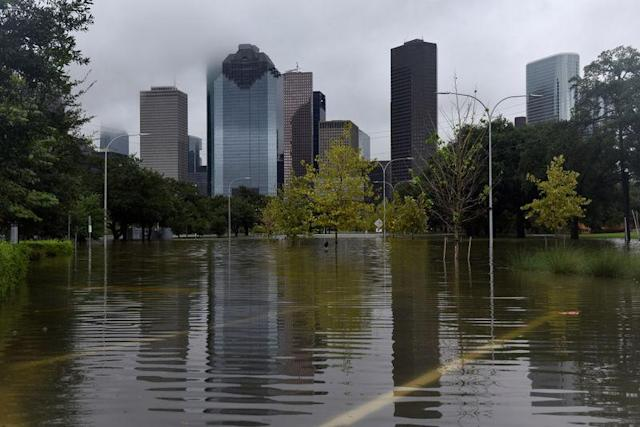 Emergency workers in Houston have bigger things to worry about than a football game. (Reuters)
