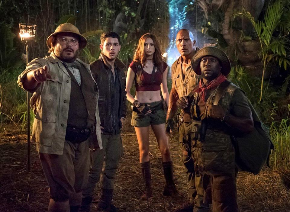 Karen Gillan and co in 'Jumanji: Welcome to the Jungle' (credit: Sony)