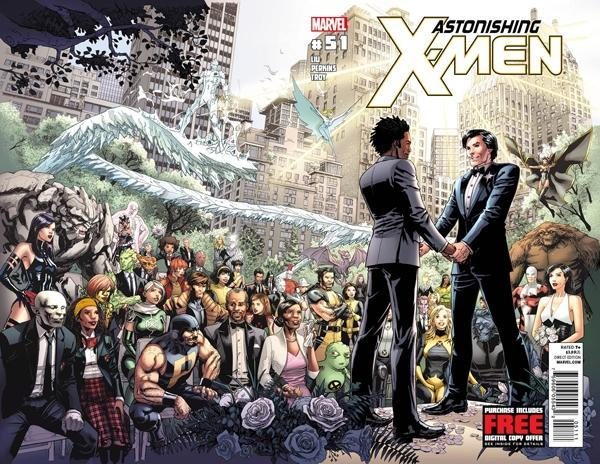 Northstar married his longtime boyfriend in a 2012 issue of <em>Astonishing X-Men</em>. (Photo: Marvel)