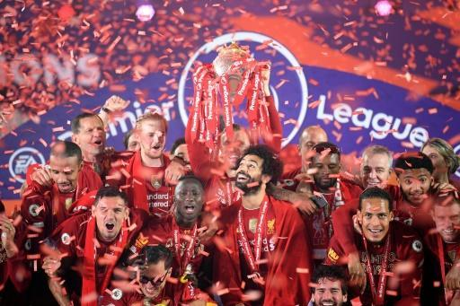 Liverpool were crowned English champions for the first time in 30 years