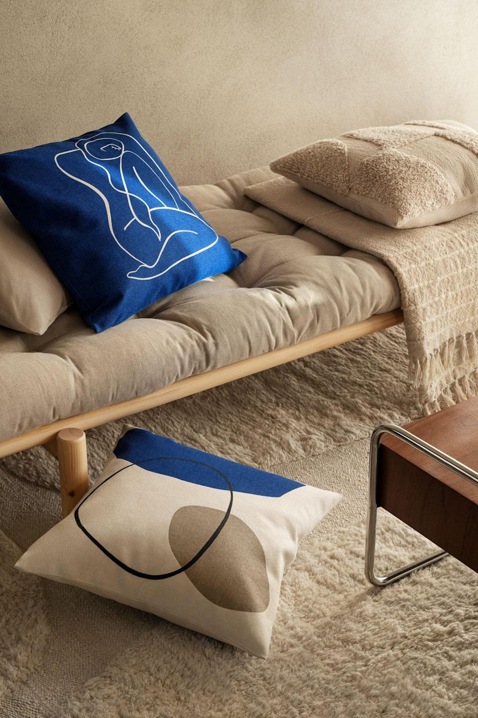 <p>Calling all minimalists! This fun <span>Cotton Canvas Cushion Cover</span> ($6) was made for you. The abstract silhouette makes it so much cooler.</p>