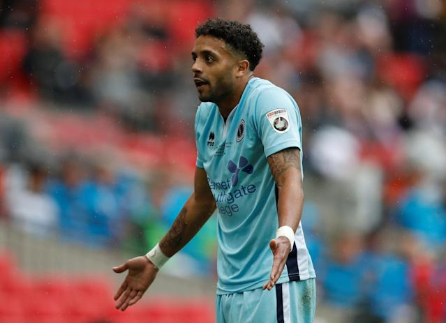 Soccer Football - National League Promotion Final - Tranmere Rovers v Boreham Wood - Wembley Stadium, London, Britain - May 12, 2018 Boreham Woods' Bruno Andrade reacts Action Images/Matthew Childs
