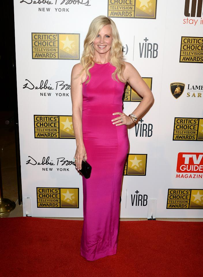 LOS ANGELES, CA - JUNE 10: Actress Monica Potter arrives at Broadcast Television Journalists Association's third annual Critics' Choice Television Awards at The Beverly Hilton Hotel on June 10, 2013 in Los Angeles, California. (Photo by Jason Merritt/Getty Images)