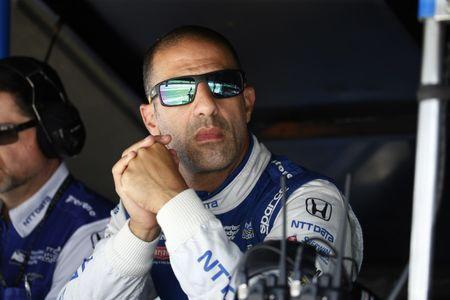 FILE PHOTO: May 18, 2017; Indianapolis, IN, USA; Verizon IndyCar Series driver Tony Kanaan watches in the pits during practice for the 101st Running of the Indianapolis 500 at Indianapolis Motor Speedway. Mandatory Credit: Brian Spurlock-USA TODAY Sports