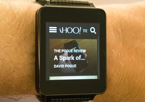 Yahoo Tech on an Android watch