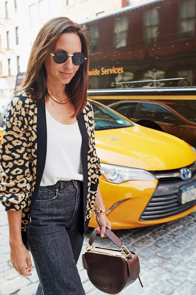 <p>Layer on a few pieces of gold jewelry for a polished finish, whether you're wearing this outfit to the office, on the weekends, or for a casual date night. </p>