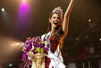 Catriona Gray, Miss Philippines 2018 is crowned Miss Universe at the conclusion of the three-hour special programming event on FOX at 7:00 PM ET live/PT tape-delayed on Sunday, December 16, 2018 at the IMPACT Arena in Bangkok, Thailand. The new winner will move to New York City where she will live during her reign and become a spokesperson for various causes alongside The Miss Universe Organization. HO/The Miss Universe Organization