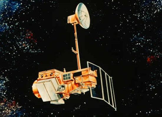 An artist's depiction of Landsat 5 (NASA)