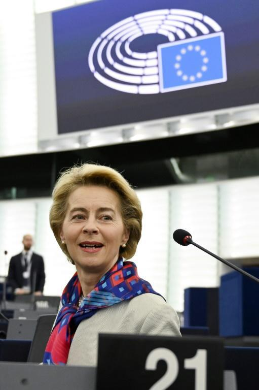 European Commission chief Ursula von der Leyen stressed that Britain will become a 'third country' after Brexit, meaning current EU rights and privileges will disappear (AFP Photo/FREDERICK FLORIN)