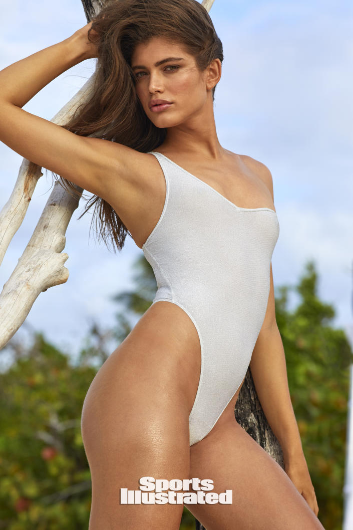 Valentina Sampaio for Sports Illustrated Swimsuit 2020 on sale July 21. (Josie Clough / Sports Illustrated)