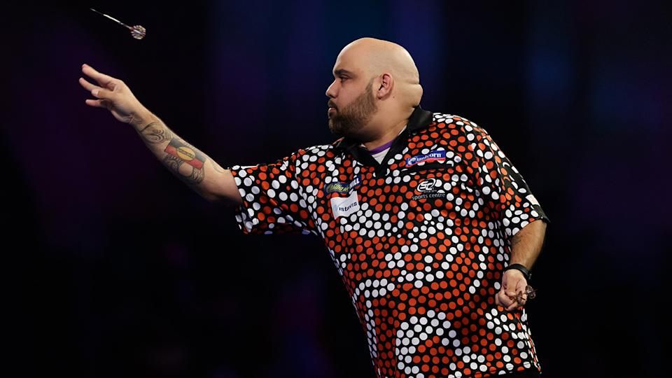 Kyle Anderson, pictured here at the World Darts Championships in 2018.