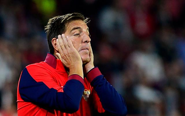 "Sevilla have sacked manager Eduardo Berizzo just a week after he returned to the club after recovering from prostate cancer surgery. A club statement read: ""The Board of Directors has taken the decision to dismiss the coach of the first team, Eduardo Berizzo , due to the team's bad run. ""Sevilla FC would like to express their gratitude to Eduardo Berizzo for his professionalism and dedication shown in the performance of his work, as well as for the good treatment given to all members of the club since his arrival."" Wednesday's 3-1 defeat at Real Sociedad was their fourth successive match without a win across all competitions leaving them fifth in the table. Former Barcelona head coach Luis Enrique has been linked with the manager's job in recent days. Sevilla players flock to celebrate with Eduardo Berizzo during their 3-3 draw with Liverpool Credit: AFP Sevilla meet Jose Mourinho's Manchester United in the last 16 of the Champions League in February. The former River Plate defender underwent successful surgery at the start of December and returned to the dugout for the club's La Liga match against Levante's last Friday, but Sevilla were held to an underwhelming 0-0 draw. Berizzo told his Sevilla players of his diagnosis in late November, days before the Andalusian club took Liverpool in the group stages of the Champions League. ""I don't like being the focus of attention,"" he said after his players had rushed to celebrate a goal with him as a show of support. ""In my job, the players are the most important ones but I thank them for that gesture of support and for showing faith in their coach."