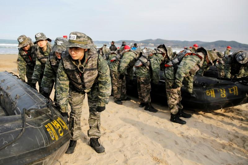 South Koreans take part in mock Marine Corps boot camp in Pohang