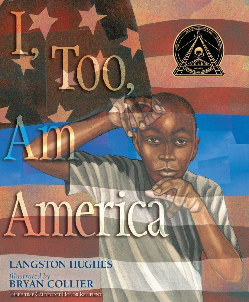 """Bryan Collier presents an illustrated version of<a href=""""https://www.huffingtonpost.com/entry/this-black-history-month-we-declare-we-too-are-america_us_588fa515e4b0c90efeff4088"""">Langston Hughes' famous poem</a>""""I, Too, Am America.""""<i></i>(By Langston Hughes, illustrated by Bryan Collier)"""