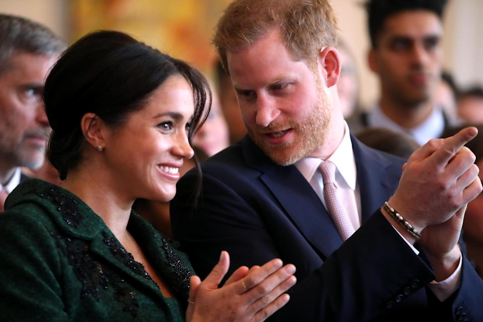 The Duke and Duchess of Sussex at Canada House [Photo: PA]