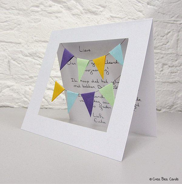 """<p>Break out the tiny flags for a mantel-worthy sentiment.</p><p><strong>Get the tutorial at <a href=""""https://www.creabeacards.com/happy-birthday-garlands-card/"""" rel=""""nofollow noopener"""" target=""""_blank"""" data-ylk=""""slk:Crea Bea Cards"""" class=""""link rapid-noclick-resp"""">Crea Bea Cards</a>.</strong></p>"""