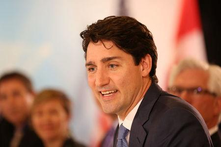 Canada's Prime Minister Justin Trudeau attends a round table at the CERAWeek energy conference in Houston