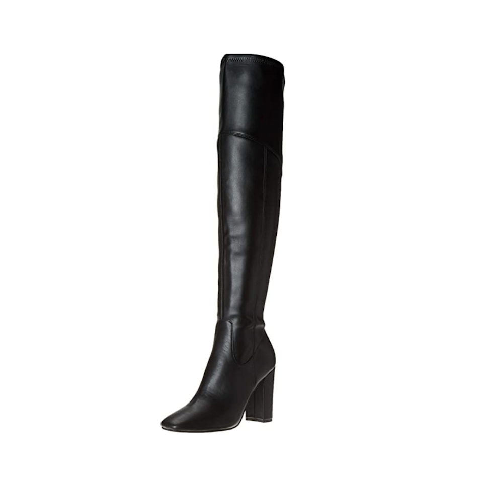 """Nothing makes an entrance quite like a pair of classic over-the-knee boots, which feature a side zipper detail so you can easily slip them on over a pair of skinny jeans, tights, or even your bare legs. $45, Amazon. <a href=""""https://www.amazon.com/GUESS-Womens-Mireya-Fashion-Black/dp/B08H2HJQ5S"""" rel=""""nofollow noopener"""" target=""""_blank"""" data-ylk=""""slk:Get it now!"""" class=""""link rapid-noclick-resp"""">Get it now!</a>"""