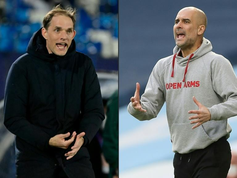 (COMBO) (FILES) Thomas Tuchel and Pep Guardiola: the men in the Champions League final dugouts