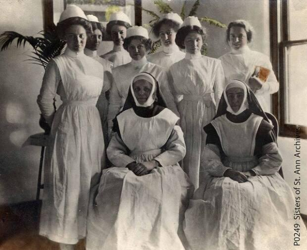 The Sisters of St. Ann were assigned to work at residential schools in Mission, Kamloops, Kuper Island near Chemainus and Lower Post, B.C.  (Royal B.C. Museum  - image credit)