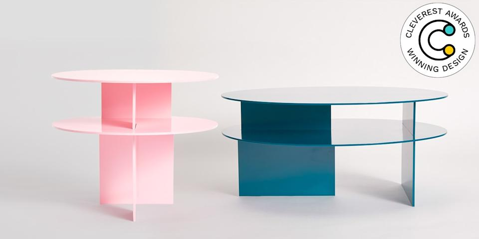 Sanora Table Collection by Ben Barber Attention detail-oriented decor lovers: These coffee and side tables were literally designed with alterations in mind. Pick your preferred dimensions and your favorite color, and Ben Barber will cut your dream two-tiered, powder-coated table from aluminum. Even better: The pieces come flat-packed for easier transport up to your apartment. From $2,405, benbarberstudio.com