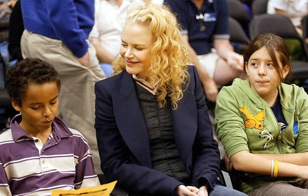 Nicole Kidman pictured here with her son Connor and daughter Bella in 2004. Photo: Getty Images.