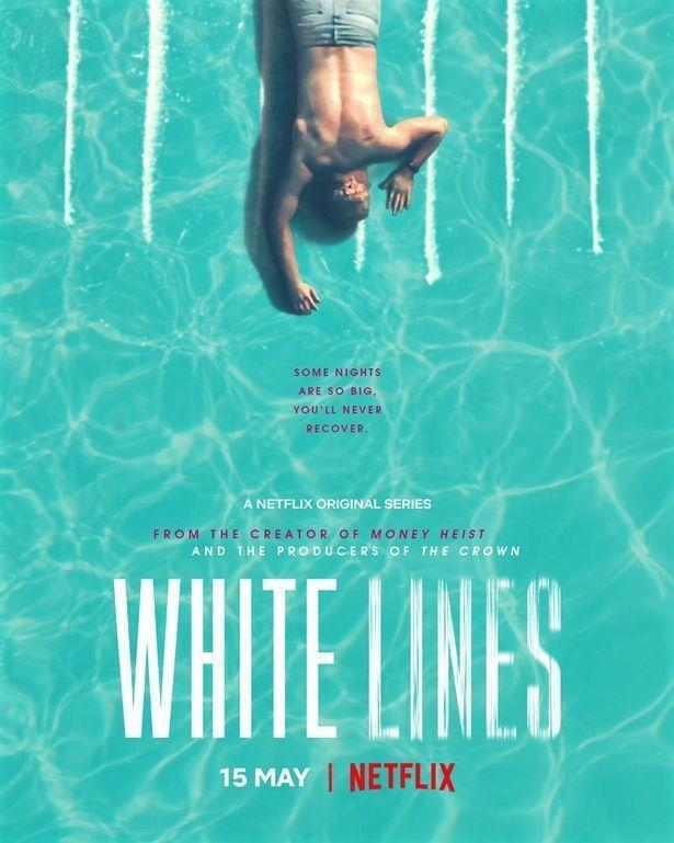 """<p><strong>e net</strong></p><p>netflix.com</p><p><a href=""""https://www.netflix.com/search?q=white+lines&jbv=80993591"""" rel=""""nofollow noopener"""" target=""""_blank"""" data-ylk=""""slk:Shop Now"""" class=""""link rapid-noclick-resp"""">Shop Now</a></p><p>This British-Spanish bilingual production takes place on Ibiza and follows a woman's quest to find out who murdered her famous D.J. brother. As its title suggests, though, it doesn't take long for her to fall prey to the island's dangerous temptations.</p>"""