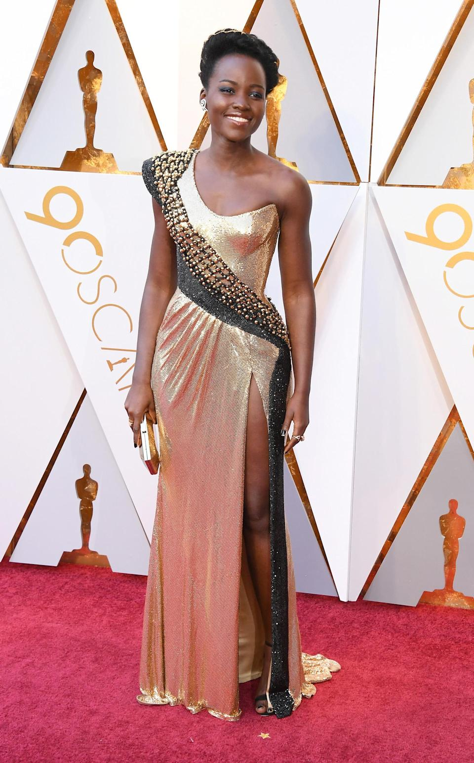 <p>Nyong'o attends the 90th Annual Academy Awards at Hollywood & Highland Center on March 4, 2018 in Hollywood, California.<br> (Photo by Steve Granitz/WireImage) </p>
