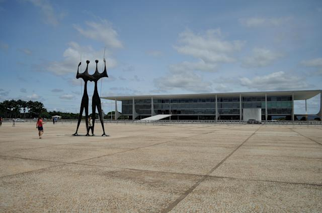 Palácio do planalto, official workplace of the President of Brazil