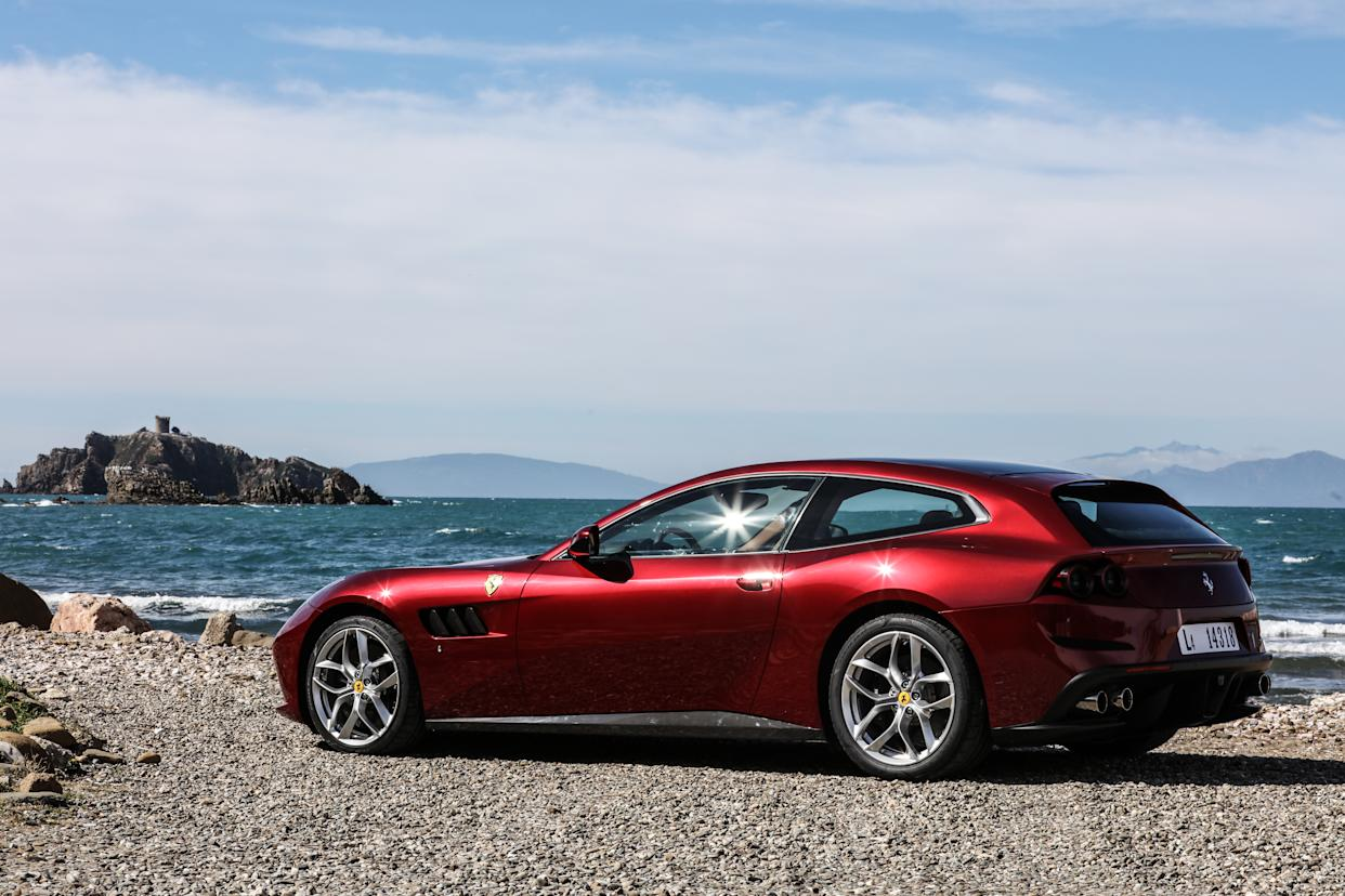 The GTC4 Lusso is available with either a V8 or V12 engine