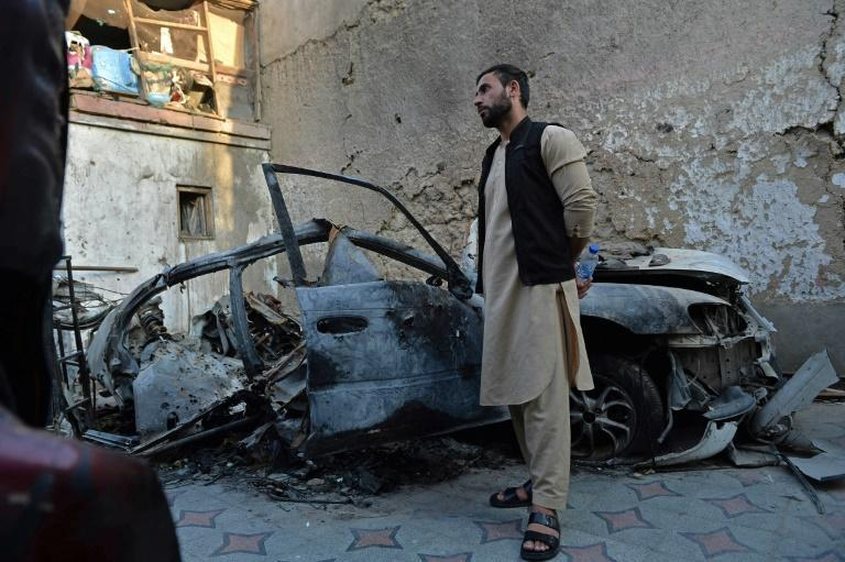 On the night of the drone strike, Ahmadi pulled his car, which the US had been tracking, into his driveway before children piled into it -- pretending the parking routine was an adventure -- and a missile came screeching down, killing seven kids and three adults (AFP/Hoshang Hashimi)