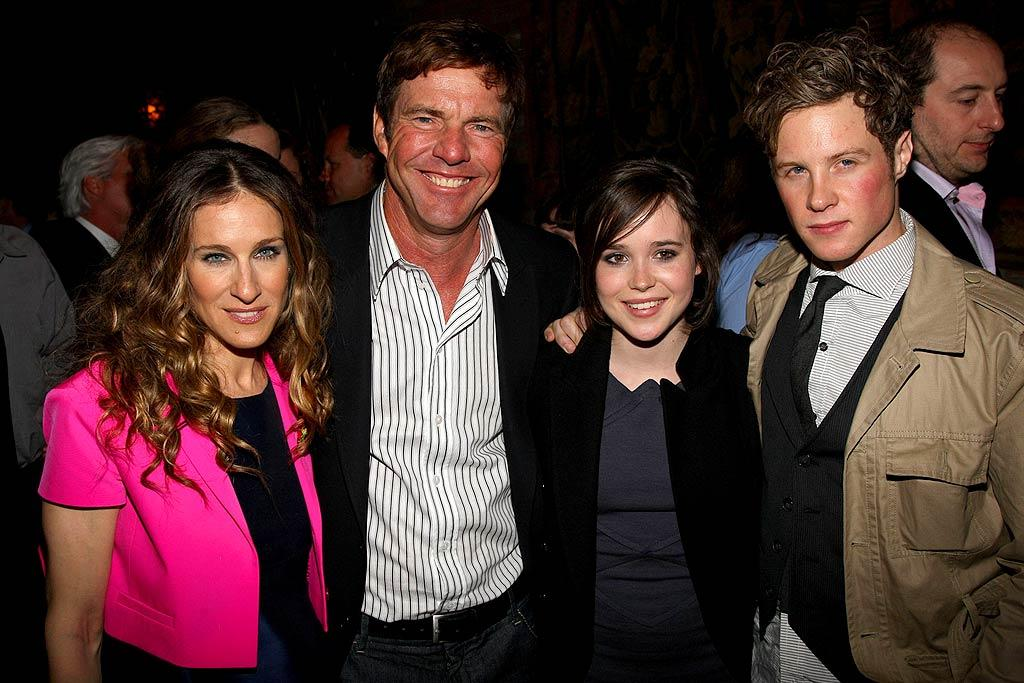 "Sarah and Ellen are joined by their sexy costars, Dennis Quaid and Ashton Holmes, at the after party. ""Smart People"" arrives in theaters on April 11. Jason Kempin/<a href=""http://www.wireimage.com"" target=""new"">WireImage.com</a> - March 31, 2008"