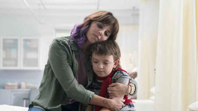 Ophelia Lovibond and Winslow Fegley in 'Timmy Failure: Mistakes Were Made'. (Credit: Disney+/Dale Robinette)