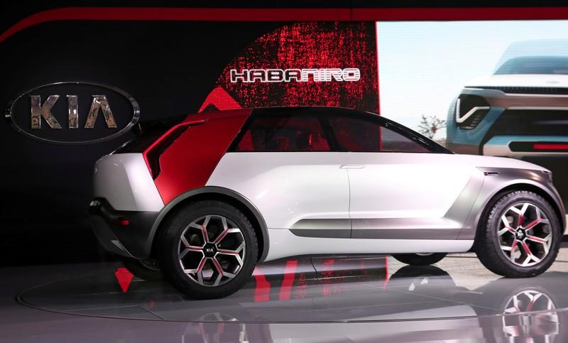 FILE PHOTO: The Kia HabaNiro electric concept car is revealed at the 2019 New York International Auto Show in New York City