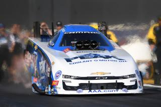 A Sunday drive for Force typically goes about 330-plus mph in less than four seconds. Photo: NHRA.