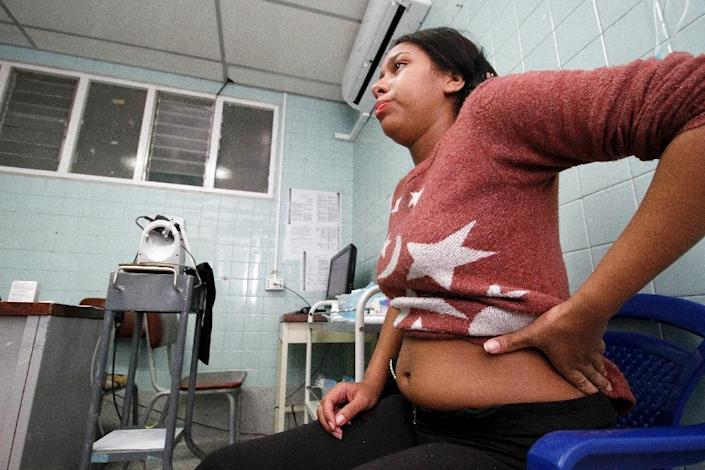 A pregnant woman infected by the Zika virus, at the Erasmo Meoz University Hospital in Cucuta, Colombia on January 25, 2016 (AFP Photo/Schneyder Mendoza)