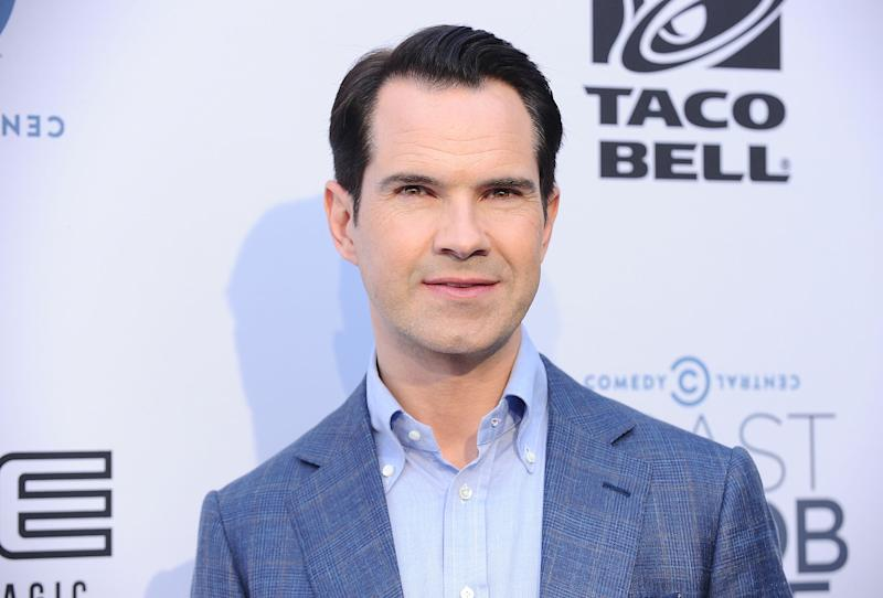 LOS ANGELES, CA - AUGUST 27: Comedian Jimmy Carr attends the Comedy Central Roast of Rob Lowe at Sony Studios on August 27, 2016 in Los Angeles, California. (Photo by Jason LaVeris/FilmMagic)